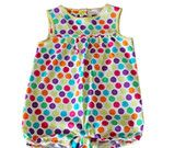 Unisex romper, multicolor dots for baby Rompers, Unisex, Summer Dresses, Jellyfish, Children, Etsy, Fashion, Young Children, Moda