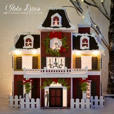 A place where I share all my crafty creations. like I said all things crafty! Christmas Paper, Christmas Projects, All Things Christmas, Christmas Home, Christmas Gingerbread, Halloween Projects, Christmas Village Houses, Putz Houses, Christmas Villages