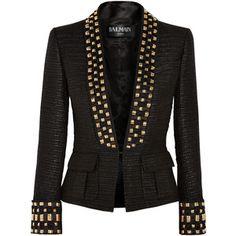 Balmain Embellished tweed blazer