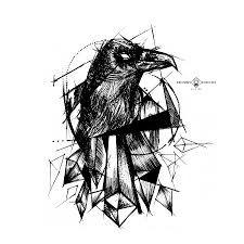 Resultado de imagen para cuervo tatuaje vikingo