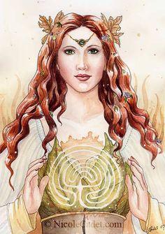Welsh Celtic goddess of Autumn, the harvest, magic, ritual, and fertility