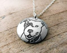@Caryn Scanlan Forbes: smiling pit bull necklace. aww