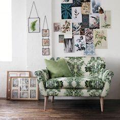 Floral print sofa tr