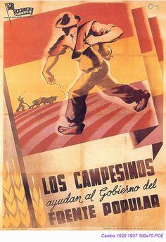Spain - 1937. - GC - poster - autor: Cantos