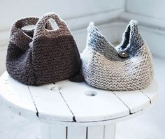 Super Bulky Handbag Free Knitting Pattern
