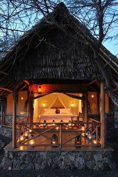 In the category Favourite Honeymoon Resorts, Severin Safari Camp - Tsavo West National Park, Kenya is definitely on the list!
