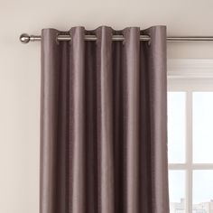Buy John Lewis Faux Silk Blackout Lined Eyelet Curtains, Mocha, W167 x Drop 137cm Online at johnlewis.com