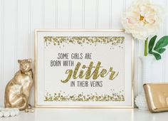 Printable Art Glitter Print Quote Print by SmudgeCreativeDesign