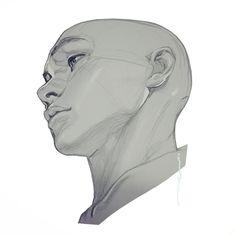 Fabulous Drawing On Creativity Ideas. Captivating Drawing On Creativity Ideas. Drawing Heads, Drawing Poses, Side Face Drawing, Anatomy Drawing, Anatomy Art, Head Anatomy, Anatomy Reference, Art Reference Poses, Face Drawing Reference
