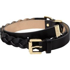 Women's Braided Belt Black Glossy Buffalo found on Polyvore