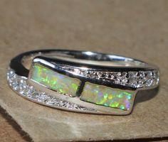 fire-opal-Cz-ring-gemstone-silver-jewelry-Sz-7-25-modern-chic-wedding-band-B5L