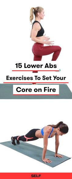 """Lower abs are often harder to target than upper abs. These 15 lower ab exercises for women will work your rectus abdominis a. your """"six-pack muscle"""" These workouts will build a strong core improve your posture and encourage a good sculpting burn. Yoga Beginners, Workout For Beginners, Best Lower Ab Exercises, Abdominal Exercises, Core Exercises, Ab Exercises For Women, Course Automobile, Upper Abs, Effective Ab Workouts"""