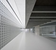 Modern Architecture House, Interior Architecture, Spanish Architecture, Interior Design, Pamplona, Corridor Lighting, Glass Building, Concrete Projects, Space Interiors
