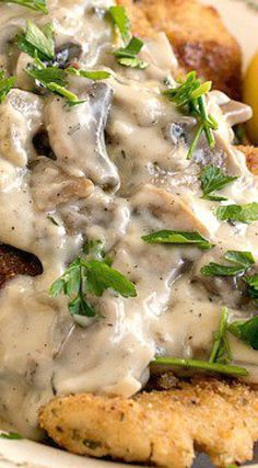 Chicken Escalope with Mushroom Sauce ~ Simple, quick and flavorful