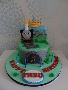 Rachels Enchanting Creations -Thomas the tank, king of the railways 2 tier birthday cake x