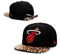 Miami Heat Black Leopard Snapback Hats New Era Cap  Heat067  -  7.50   8de12a521b8