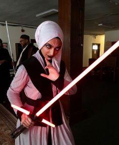 Muslim Star Wars Cosplay #muslimjedi #muslim #jedi #cosplay #maythe4th #starwars #lightsabers #sith #kyloren
