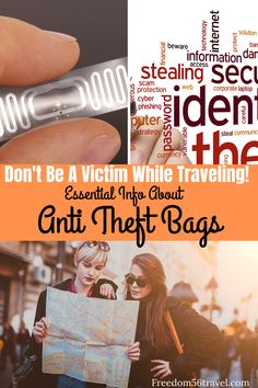 It's essential to protect yourself and your belongings when traveling!  Find out all you need to know to about the best anti-theft bags, purses, backpacks and sling bags with organizers, card holders, and RFID blocking technology to keep your cards and passports safe!  #products #bags #organizers #RFID #antitheft #travel #passport #sleeve #handbags #travelpurse