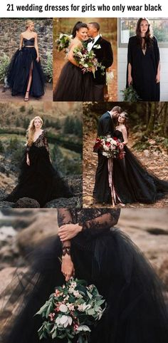 Beautiful black wedding dress ideas
