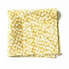 Linen Cloth Napkin Set- Maize Gold Dot-Hand Batik Block Printed- Set of 4 Linen Cloth, Batik, Gold Dots, Napkins Set, Hang Tags, Natural Linen, My Design, Wax, Weaving