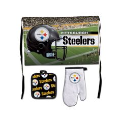 New! Pittsburgh Steelers Premium 3-Piece Barbeque Tailgate Set #PittsburghSteelers