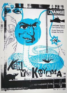 Original silkscreen concert poster for Ken Yokoyama at The Unit in  Tokyo, Japan in 2007.   18 x 24 inches. Numbered out of 50