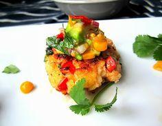 Stacey Snacks: Oscar Worthy: Shrimp Cakes w/ Avocado Salsa