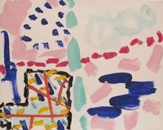 Patrick Heron 29 July 1990 Abstract Shapes, Abstract Art, Patrick Heron, A Level Textiles, Art Inspo, Painting & Drawing, Illustration Art, Illustrations, Cool Art