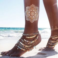 Foot Gold Chain Inspiration Jewelry