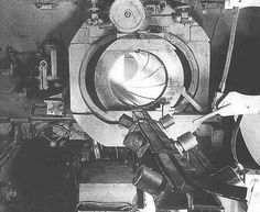A Sturmtiger interior shot of the gun breach and loading ramp assembly