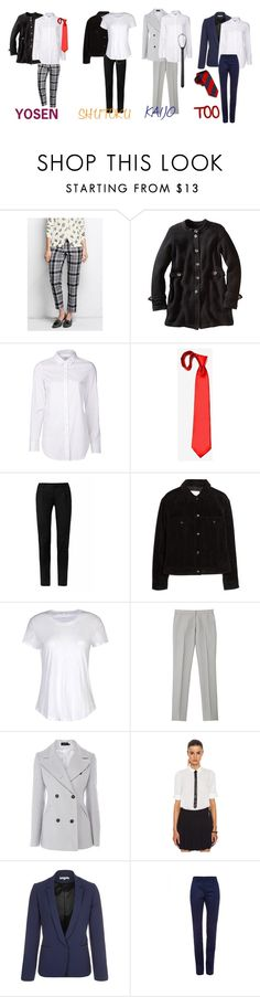 """""""Casual cosplay Kuroko no Basket: uniform set 1"""" by drkittyvonscooper ❤ liked on Polyvore featuring Lands' End, Closed, Yves Saint Laurent, MANGO, James Perse, Gyunel, Karen Millen, Les Petites... and Sonia Rykiel"""