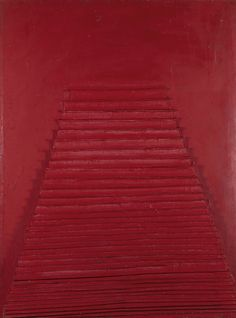 thunderstruck9:  Horia Damian (Romanian, 1922-2012), La Pyramide rouge, 1963. Mixed_media on wood, 210 x 159 x 16 cm.