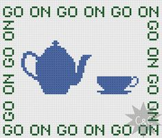 Father Ted Mrs Doyle 'Go On' cross stitch by CapesAndCrafts, £2.30