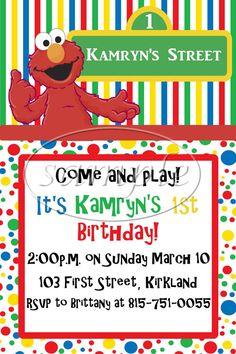 PRINTABLE DIGITAL DESIGN Elmo Birthday Party Invitations - Elmo Party - Sesame Street Birthday on Etsy, $9.00