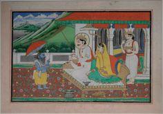Vamana Avatara e Bali Maharaja, Jaipur painting