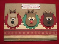 Stampin Up Punch Art Reindeer | Stampin' Up!, Christmas, Reindeer, Owl Punch, ... | Stampin' Up! - Ch ...