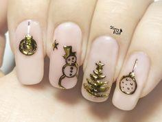 Easy 3D Christmas Ornaments ⎮ Transfer Gel & Foil ⎮ Nail Art Tutorial
