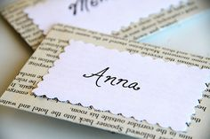 lots of super cute craft ideas using old book pages