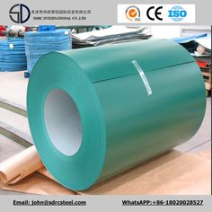 Corrugated Roofing Material PPGI Color Coated Steel Coil http://www.tjsdrcsteel.com