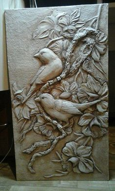 Фотография Clay Wall Art, Clay Art, Wood Carving Art, Wood Art, Wood Sculpture, Wall Sculptures, Plaster Art, Metal Embossing, Art Carved