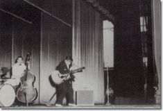 Bill Black and Elvis Presley onstage at the Mosque
