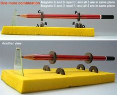 Magnetic Levitation Project from Toys from Trash Physics Projects, Stem Projects, Science Fair Projects, Science Lessons, Teaching Science, Science Education, Physical Science, Forensic Science, Higher Education