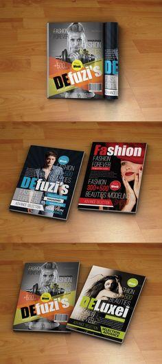 Four Magazine Covers Template. Magazine Templates. $12.00
