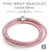 Support Breast Cancer Awareness with the Limited Edition Pink Wrap Bracelet by Chamilia. Breast Cancer Support, Breast Cancer Awareness, Magic Charms, Pink Leather, Swarovski Crystals, Sparkle, Jewellery, Beads, Bracelets