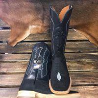 638f4c591 Custom Black Stingray Black Jack Boots. Made in USA!! #Stingray #BlackJack  #MuleBarn #Dreamboot #CrossInlayTop