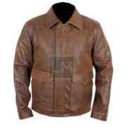 Indiana Jones Harrison Ford Faded Brown Leather Jacket on SALE with FREE Shipping  http://leathermadness.com/products/indiana-jones-harrison-ford-indy-faded-brown-leather-jacket/  #IndianaJones #Indy #HarrisonFord #LM #LeatherMadness #Sale #Deals #FreeShipping
