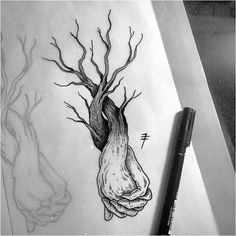 Photo ideas para tattoos futuros tetovanie, tetovania y tetovacie predlohy. Tattoo Sketches, Cool Drawings, Tattoo Drawings, Art Sketches, Tree Drawings, Dibujos Tattoo, Desenho Tattoo, Minimalist Drawing, Girls With Sleeve Tattoos