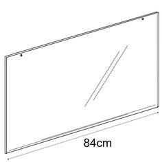A1 landscape sign holder-hanging (acrylic slatwall sign holder)