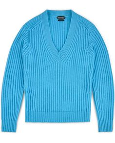 TOM FORD Fisherman's Ribbed V-Neck Sweater