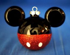 Mickey Mouse Icon Glass Glitter Christmas Ornament Disney Parks #DisneyParksExclusive #ChristmasOrnament